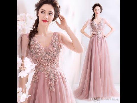 Elegantes Vestidos De Fiesta Largos, Con Piedras, Bordados Encajes Y Transparencias Hermosos