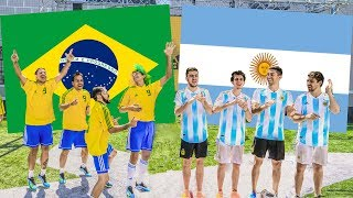Download Video Argentina vs Brasil | PARTIDO en CANCHA de 5 MP3 3GP MP4