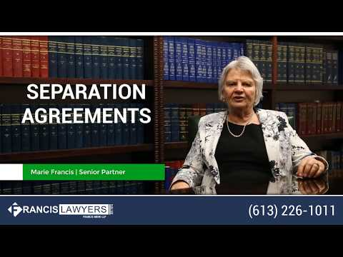 Separation Agreements - Ottawa Divorce Lawyer