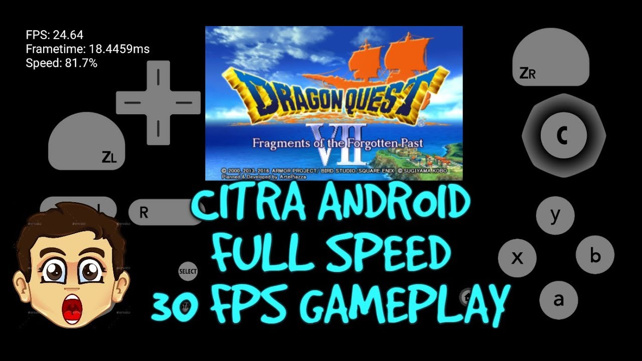 Citra Android Full Speed? 30 FPS gameplay/The most playable 3DS Game on  Android?