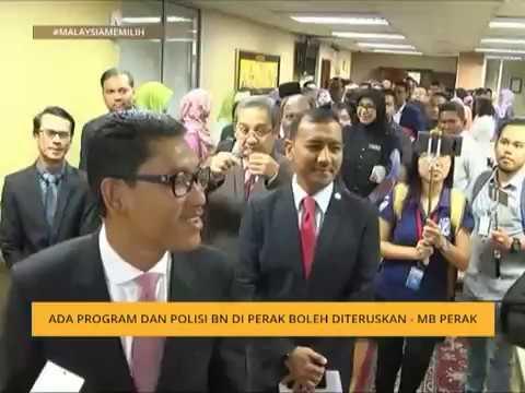 #MalaysiaMemilih: Ada program dan polisi BN di Perak boleh diteruskan - MB Perak