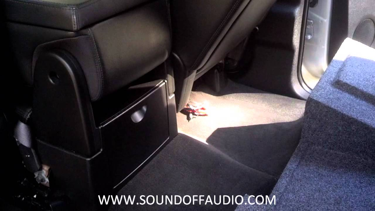 For A Ford Factory Amplifier Wiring Diagram Chevy Or Gmc Crew Cab Amp Rack Subwoofer Box 2007 2013