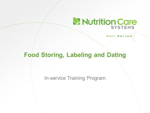 Food Storing, Labeling And Dating