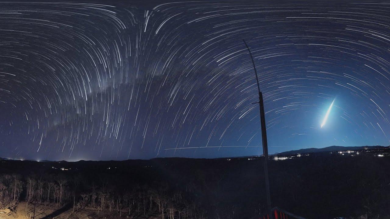 K 360 VR Starscape Timelapse 全天星空
