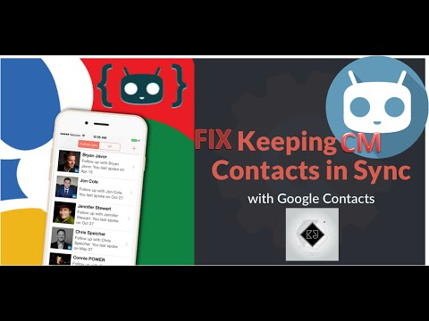 Fix Google Contact sync in CyanogenMod and CM based ROMs