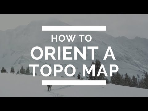 How to orient a topographic map using a compass