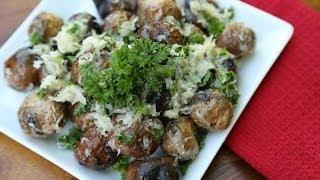 Grilled Parmesan & Garlic Baby Potatoes