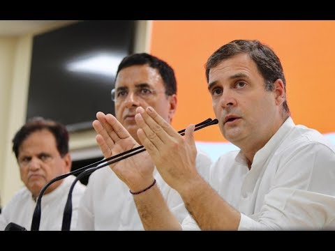 Congress President Rahul Gandhi addresses media at Congress HQ on Lok Sabha 2019 Election results