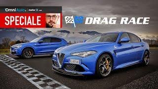 Giulia contro Stelvio, la Drag Race del Quadrifoglio Alfa Romeo