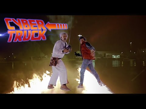 A New Time Machine? Cybertruck 2020 in Back to the Future