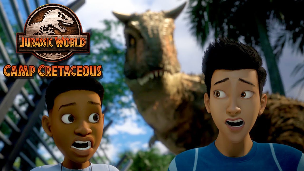 In the Carnotaurus Cage | JURASSIC WORLD CAMP CRETACEOUS | NETFLIX