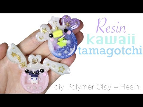 How to DIY Pocket Kawaii Tamagotchi Polymer Clay/2 Part Resin Tutorial