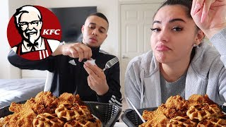 Download KFC CHICKEN & WAFFLES MUKBANG!!! (AMAZING) 🤤 Mp3 and Videos