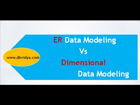 Difference between ER modelling and Dimensional Modelling