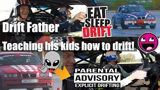 Driftaholics Next Generation - Father teaching his 2 kids how to Drift !