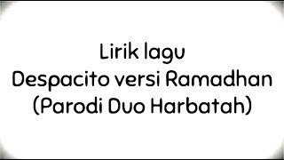 parodi despacito astaghfirullah lyrics