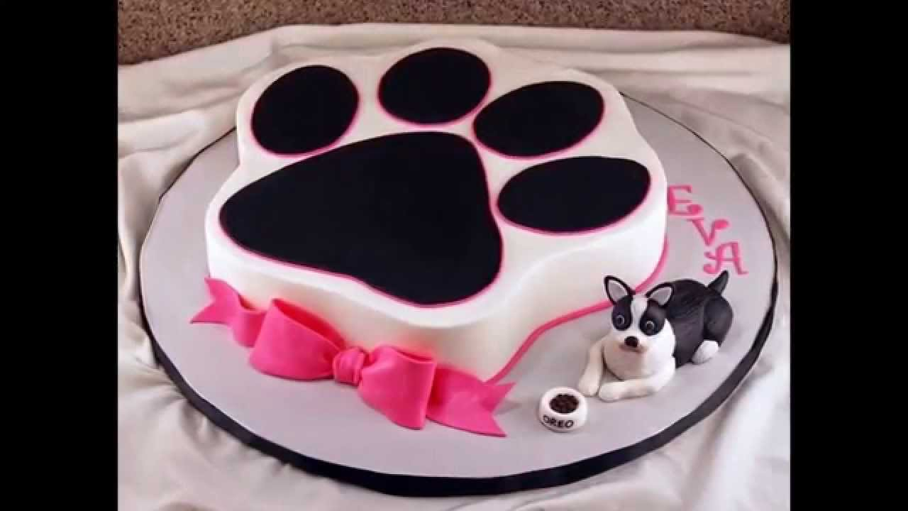 Cake Design With Dog : Dog birthday cake by thefoodventure.com - YouTube
