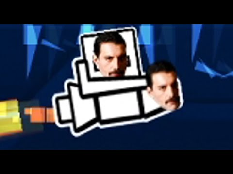 Freddie Mercury Plays Geometry Dash PART 2 - Freddie Becomes A Pro