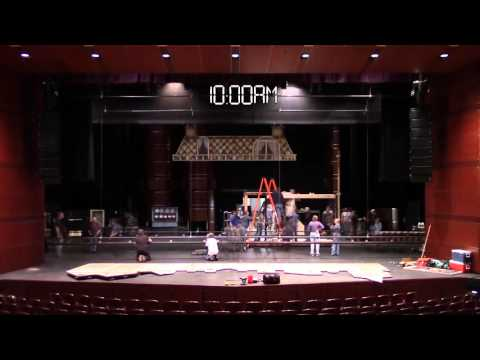 Mary Poppins Stage Set Time Lapse