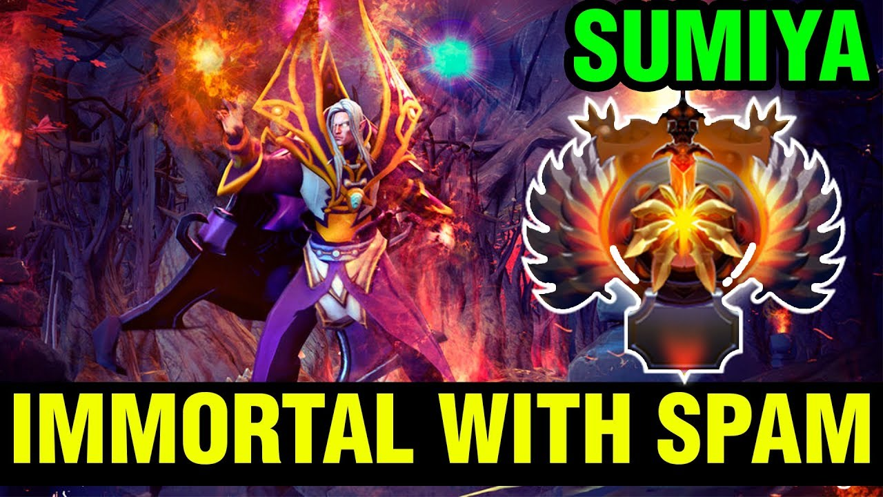 Dota 2 Immortal 12: Rushing Immortal Spamming Invoker