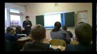 Урок в школе №22 города Ульяновска, проведенный движением Суть времени.Тема урока мой герой.
