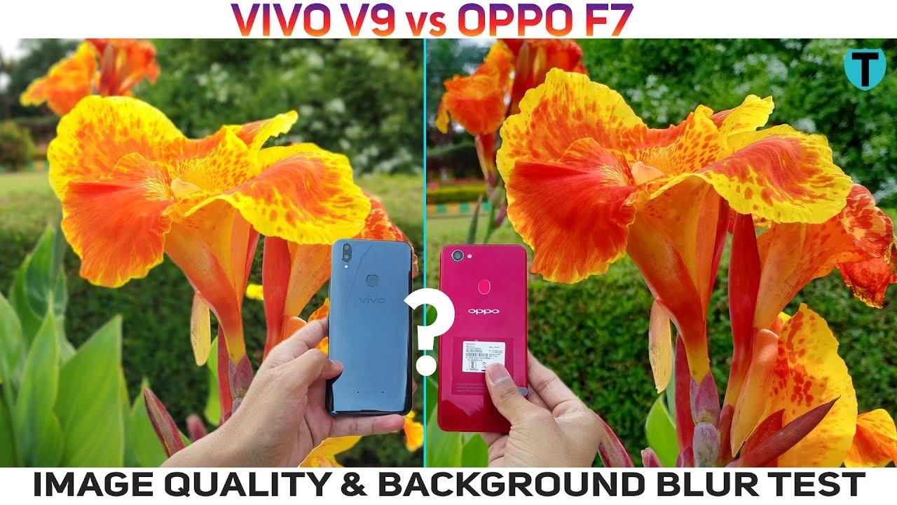 Pubg Wallpaper For Vivo V9: Vivo V9 Vs Oppo F7 Background Blur