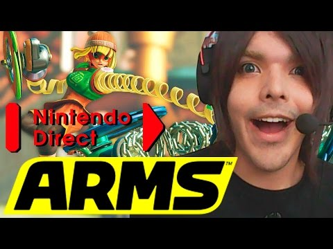 Reacción en vivo. Direct de ARMS y trailer Splatoon 2
