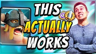 insane off meta deck elite barbarians deck that works — clash royale