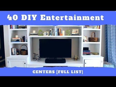 40 DIY Entertainment Centers [List]