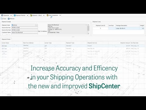 Increase Accuracy and Efficiency in your shipping operations with the new and improved ShipCenter