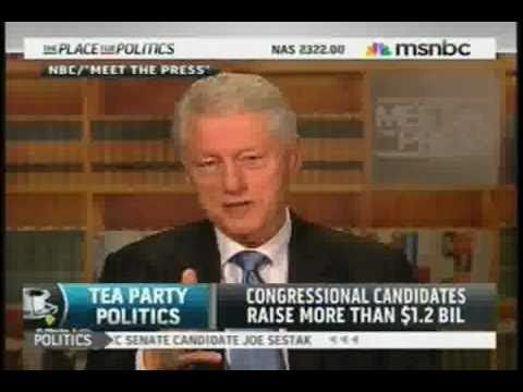 BILL CLINTON SLAMS ALASKA GOP TEA PARTY EXTREMIST SENATE CANDIDATE JOE MILLER FOR ECONOMY BLAME