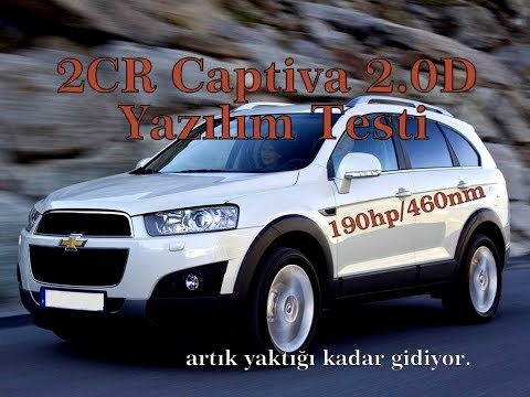 2CR - Captiva 2.0D - Yazılım Testi / 190hp/460nm / EGR&DPF İptal