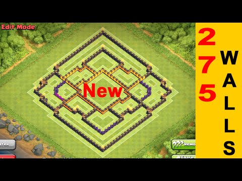NEW TOWNHALL 10 FARMING BASE WITH 275 WALLS | Clash of Clans Base Bulding