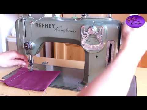Cómo empezar a coser con Refrey Transforma 427 - YouTube