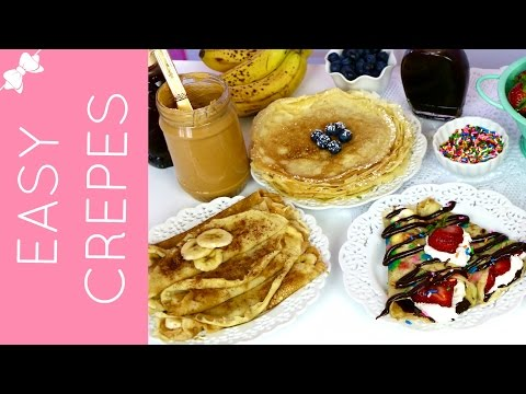 THE BEST Easy Pancake Mix Crêpes (Classic, Savory & Sweet)