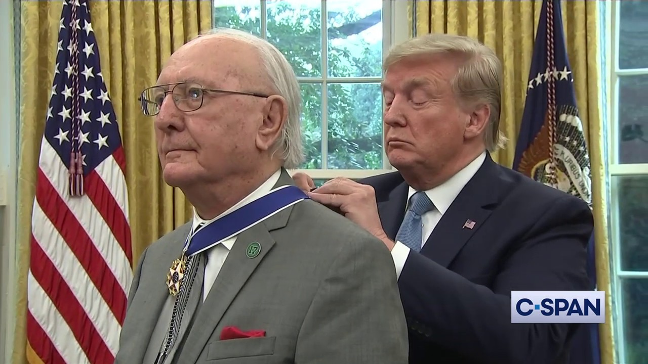 CSPAN Bob Cousy Receives Presidential Medal of Freedom