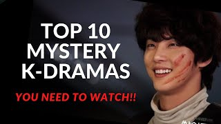 TOP 10 MYSTERY-THRILLER Korean Dramas (No Romance)