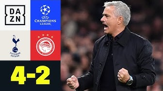 Spurs drehen Spiel bei Mourinho-Heimdebüt: Tottenham - Olympiakos 4:2 | UEFA Champions League | DAZN