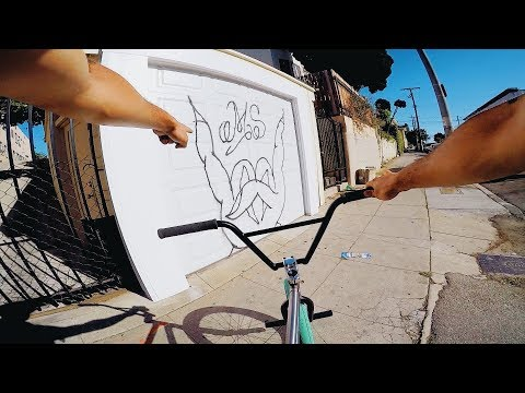 RIDING BMX IN LA COMPTON GANG ZONES 3 (CRIPS & BLOODS)