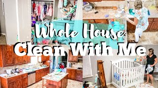 EXTREME CLEAN WITH ME / TIME LAPSE CLEANING WHOLE HOUSE / MESSY HOUSE CLEANING MOTIVATION