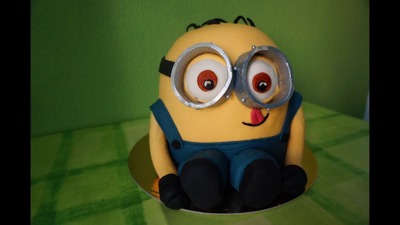 Despicable Me 3D Minion Dave Birthday Cake for kids how to cut the