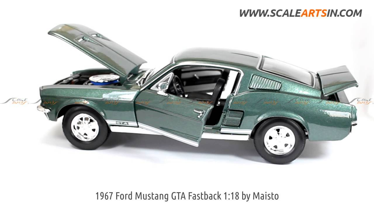 1967 ford mustang gta fastback 118 by maisto diecast scale model car www scaleartsin com