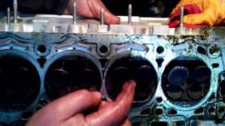 Üst kapak söküldükten sonra,Motor sibop'ları eğrilik testi...