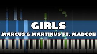 Marcus & Martinus ft. Madcon - Girls - Piano Tutorial