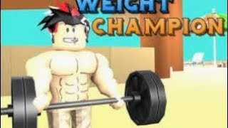 Trying to become strong... (roblox weight lifting simulator)