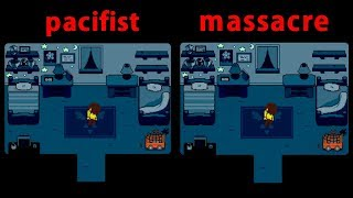 deltarune-pacifist-amp-massacre-play-comparison
