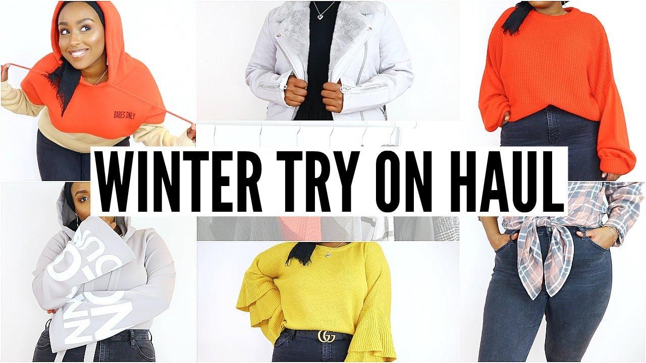 95fff675dd HUGE WINTER CLOTHING TRY-ON HAUL!