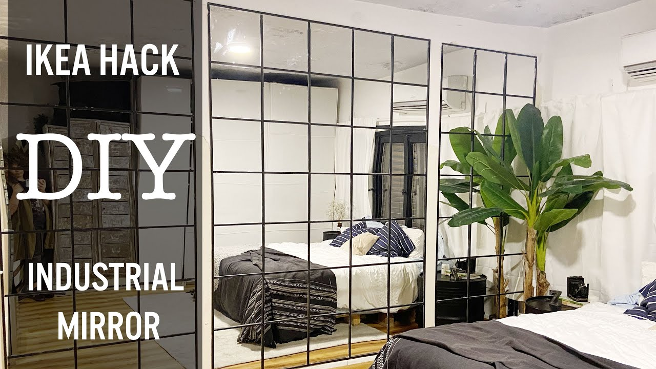 Ikea Hack Diy Industrial Mirror Wall For 60 How To Mirror Wall Youtube