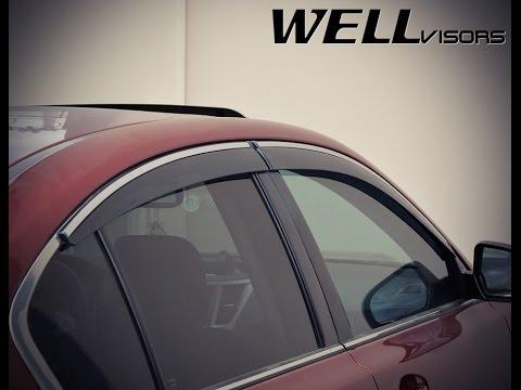 WELLvisors Side Window Deflector Vent Visor Installation Video SUBARU LEGACY  SEDAN 10 14