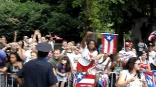 Marc Anthony (King of the Parade) & Jennifer Lopez at National Puerto Rican Day Parade 2010